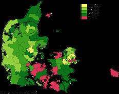 Bruttoledigheden fordelt på kommuner i pct. af arbejdsstyrken. 2012