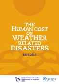Forside af rapporten The Human Cost of Weather Related Disasters 1995-2015