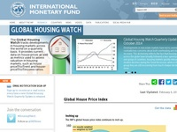 IMF's hjemmeside  Global Housing Watch