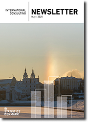 Front page of Newsletter No. 2, 2020 - View of Minsk, Belarus